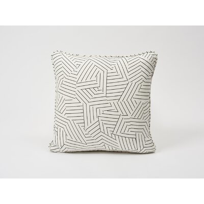 Deconstructed Stripe Linen Throw Pillow