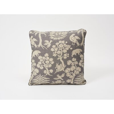 Woodland Shilouette Linen Throw Pillow