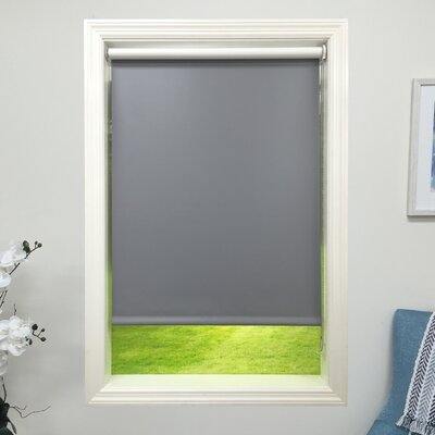 Dark Gray Blackout Roller Shade