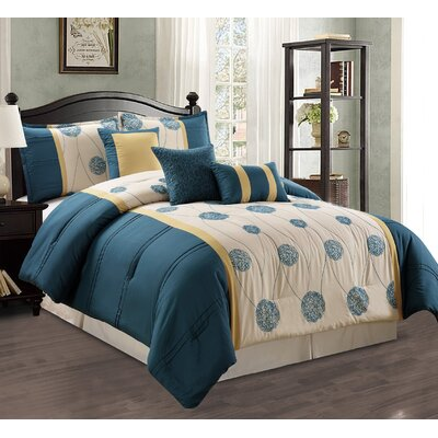 Elizabeth 7 Piece Comforter Set Size: King