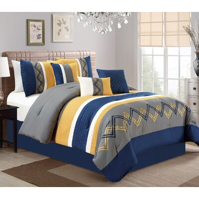 Corey 7 Piece Comforter Set Size: King