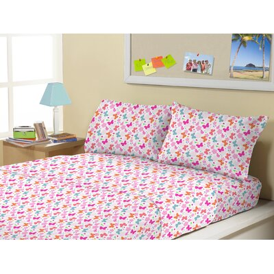 3 Piece Flutter Flower Count Kids Sheet Sets