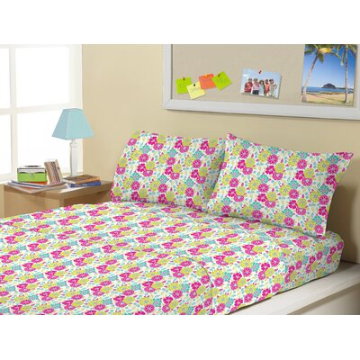 3 Piece Mattie Flowers Kids Sheet Sets