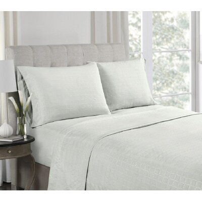 Anzilotti Embossed Sheet Set Size: Twin, Color: Gray