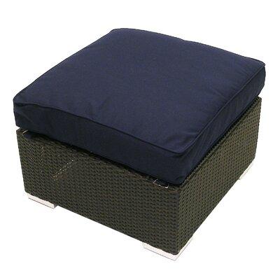 Tatta Ottoman with Cushion Fabric: Navy