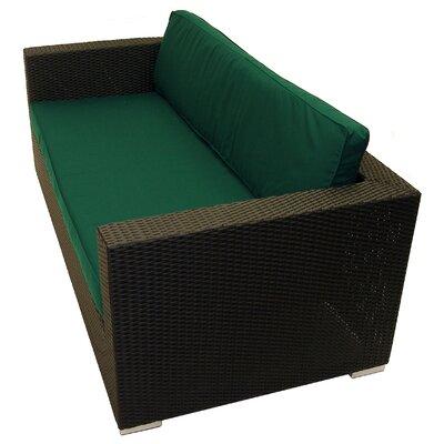 Tatta Sofa with Cushions Fabric: Forest Green