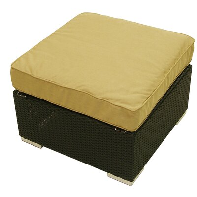 Tatta Ottoman with Cushion Fabric: Heather Beige