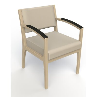 Itasca Wall Guard Back Leg Guest Chair Seat Color: Avant Bone, Finish: Natural, Arm Options: Padded