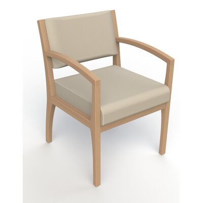 Itasca Wall Guard Back Leg Guest Chair Finish: Fawn, Arm Options: Straight, Seat Color: Avant Bone