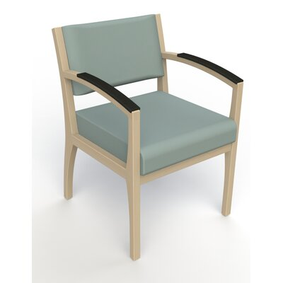 Itasca Wall Guard Back Leg Guest Chair Seat Color: Avant Calm, Arm Options: Padded, Finish: Natural