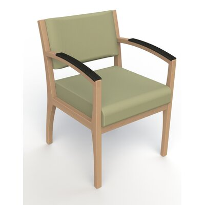 Itasca Wall Guard Back Leg Guest Chair Finish: Fawn, Arm Options: Padded, Seat Color: Avant Sage
