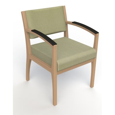 Itasca Wall Guard Back Leg Guest Chair Finish: Fawn, Arm Options: Padded, Seat Color: Script Palm