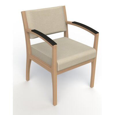 Itasca Wall Guard Back Leg Guest Chair Seat Color: Script Linen, Finish: Fawn, Arm Options: Padded