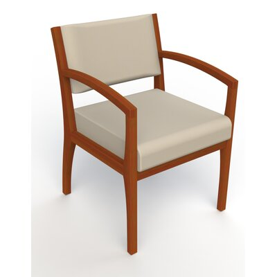 Itasca Wall Guard Back Leg Guest Chair Arm Options: Straight, Finish: Light Cherry, Seat Color: Avant Bone