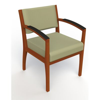 Itasca Wall Guard Back Leg Guest Chair Arm Options: Padded, Finish: Light Cherry, Seat Color: Avant Sage