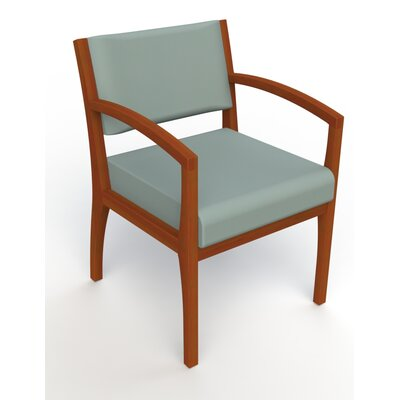 Itasca Wall Guard Back Leg Guest Chair Seat Color: Avant Calm, Arm Options: Straight, Finish: Light Cherry