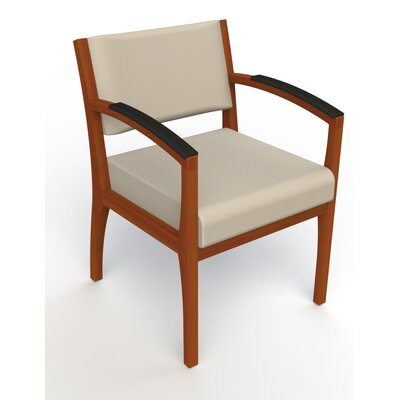 Itasca Wall Guard Back Leg Guest Chair Arm Options: Padded, Finish: Light Cherry, Seat Color: Avant Bone