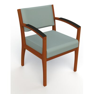 Itasca Wall Guard Back Leg Guest Chair Seat Color: Avant Calm, Arm Options: Padded, Finish: Light Cherry