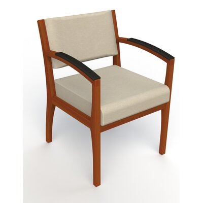 Itasca Wall Guard Back Leg Guest Chair Seat Color: Script Linen, Finish: Light Cherry, Arm Options: Padded