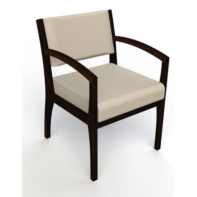 Itasca Wall Guard Back Leg Guest Chair Seat Color: Avant Bone, Finish: Espresso, Arm Options: Straight
