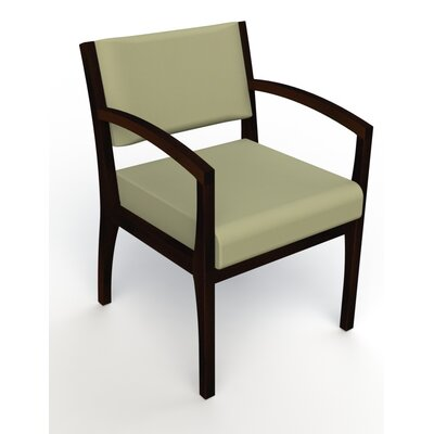 Itasca Wall Guard Back Leg Guest Chair Arm Options: Straight, Finish: Espresso, Seat Color: Avant Sage