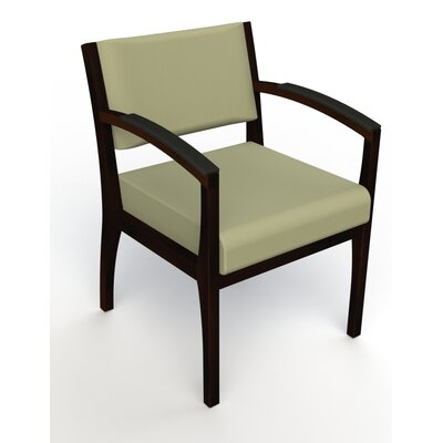 Itasca Wall Guard Back Leg Guest Chair Seat Color: Avant Sage, Finish: Espresso, Arm Options: Padded
