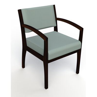 Itasca Wall Guard Back Leg Guest Chair Seat Color: Avant Calm, Arm Options: Straight, Finish: Espresso