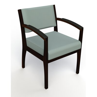 Itasca Wall Guard Back Leg Guest Chair Seat Color: Avant Calm, Arm Options: Padded, Finish: Espresso