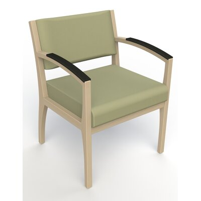 Itasca Wall Guard Back Leg Guest Chair Seat Color: Avant Sage, Finish: Natural, Arm Options: Padded
