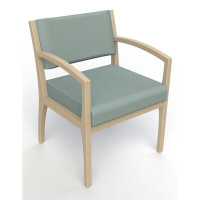 Itasca Wall Guard Back Leg Guest Chair Finish: Natural, Arm Options: Straight, Seat Color: Avant Calm