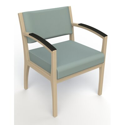Itasca Wall Guard Back Leg Guest Chair Finish: Natural, Arm Options: Padded, Seat Color: Avant Calm