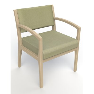 Itasca Wall Guard Back Leg Guest Chair Finish: Natural, Arm Options: Straight, Seat Color: Script Palm