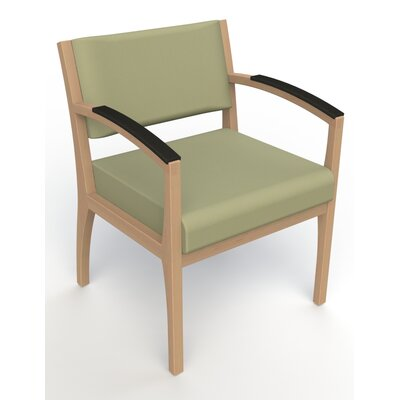 Itasca Wall Guard Back Leg Guest Chair Arm Options: Padded, Seat Color: Avant Sage, Finish: Fawn