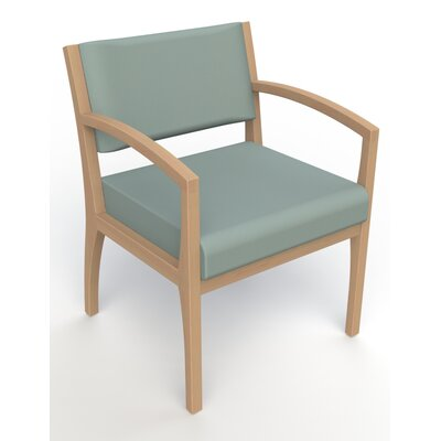 Itasca Wall Guard Back Leg Guest Chair Seat Color: Avant Calm, Finish: Fawn, Arm Options: Straight