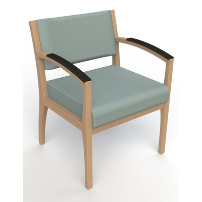 Itasca Wall Guard Back Leg Guest Chair Seat Color: Avant Calm, Finish: Fawn, Arm Options: Padded