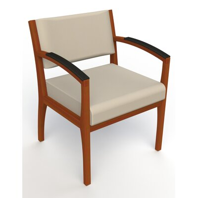 Itasca Wall Guard Back Leg Guest Chair Seat Color: Avant Bone, Finish: Light Cherry, Arm Options: Padded