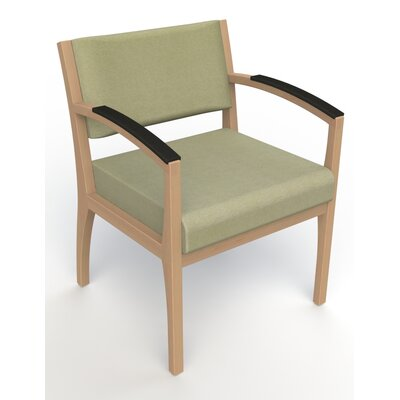 Itasca Wall Guard Back Leg Guest Chair Seat Color: Script Palm, Finish: Fawn, Arm Options: Padded