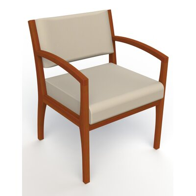 Itasca Wall Guard Back Leg Guest Chair Seat Color: Avant Bone, Arm Options: Straight, Finish: Light Cherry