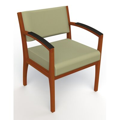 Itasca Wall Guard Back Leg Guest Chair Arm Options: Padded, Seat Color: Avant Sage, Finish: Light Cherry