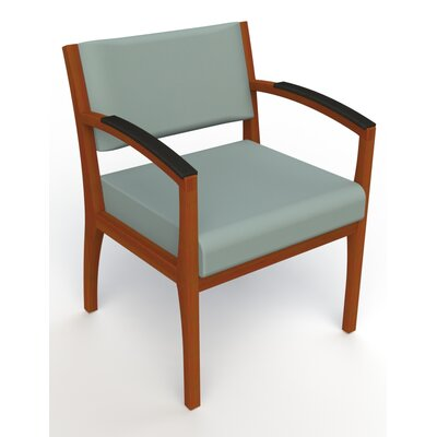 Itasca Wall Guard Back Leg Guest Chair Arm Options: Padded, Seat Color: Avant Calm, Finish: Light Cherry