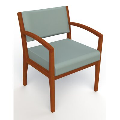 Itasca Wall Guard Back Leg Guest Chair Arm Options: Straight, Seat Color: Avant Calm, Finish: Light Cherry