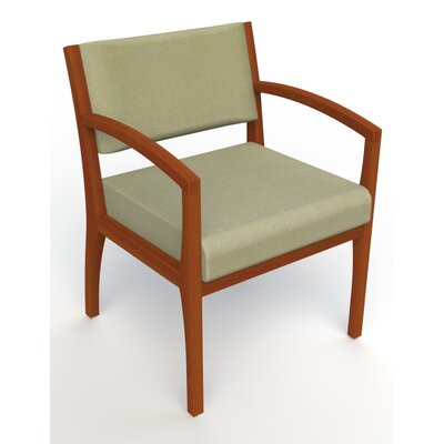 Itasca Wall Guard Back Leg Guest Chair Arm Options: Straight, Seat Color: Script Palm, Finish: Light Cherry