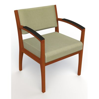 Itasca Wall Guard Back Leg Guest Chair Arm Options: Padded, Seat Color: Script Palm, Finish: Light Cherry