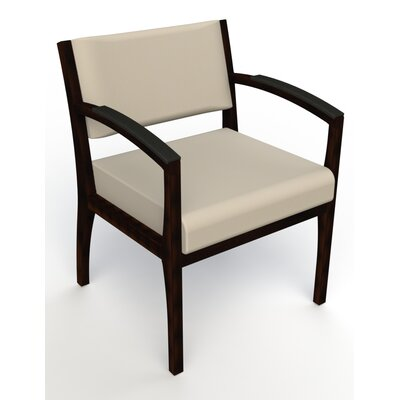 Itasca Wall Guard Back Leg Guest Chair Seat Color: Avant Bone, Arm Options: Padded, Finish: Espresso