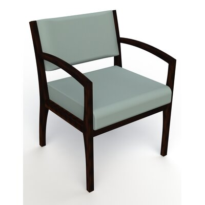 Itasca Wall Guard Back Leg Guest Chair Arm Options: Straight, Seat Color: Avant Calm, Finish: Espresso