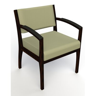Itasca Wall Guard Back Leg Guest Chair Arm Options: Padded, Seat Color: Avant Sage, Finish: Espresso