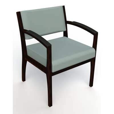Itasca Wall Guard Back Leg Guest Chair Arm Options: Padded, Seat Color: Avant Calm, Finish: Espresso