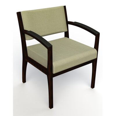Itasca Wall Guard Back Leg Guest Chair Arm Options: Padded, Seat Color: Script Palm, Finish: Espresso