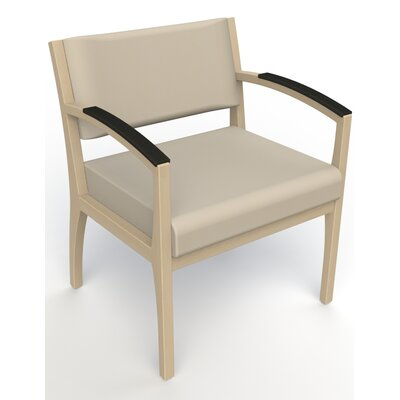 Itasca Wall Guard Back Leg Guest Chair Arm Options: Padded, Seat Color: Avant Bone, Finish: Natural