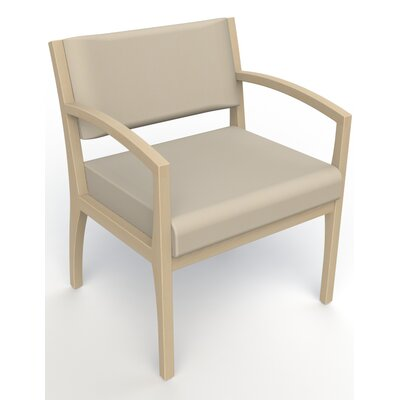 Itasca Wall Guard Back Leg Guest Chair Seat Color: Avant Bone, Finish: Natural, Arm Options: Straight